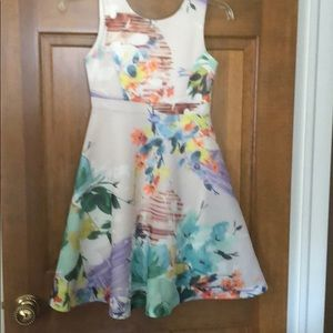 Big girls floral dress perfect for Easter